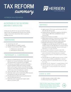 2019 Tax Reform Summary